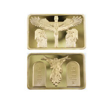 24k 999.9 Gold Plated Bar Home Decorative Jesus Metal Bars Challenge Metal Craft