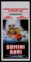 Cartel Noi Uomini Duro Enrico Montesano Renato Carlinga Pozi Cine L114