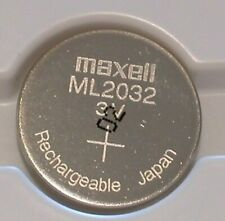 1 pc MAXELL ML2032 ML 2032  3v RECHARGEABLE LITHIUM BATTERY manufactured 02/2020