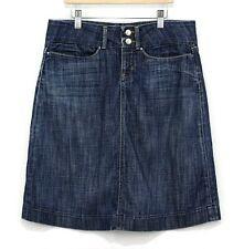 Genuine Banana Republic Women Stretch Straight Denim Skirt Size 2 knee length