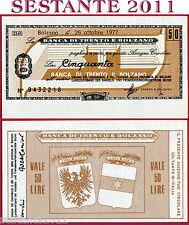 BANCA DI TRENTO E BOLZANO LIRE 50 26.10. 1977 UNIONE COMMERCIO TURISMO FDS B93