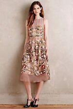 Anthropologie Moulinette Soeur Beaded Embroidered Brown Novelette Dress-0
