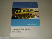 Manual de Instrucciones Handbuch Mercedes Benz W212 Clase E Taxi