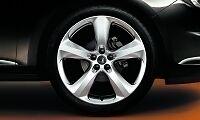 "Vauxhall ASTRA J 19 "" 5 Spoke LEGA RUOTA autentico Argento 13276367 NUOVO"