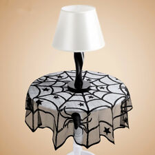Halloween Party Spider Round Web Tablecloth Topper Covers Fireplace Table Decor