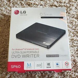LG Slim External USB 2.0 DVD RW CD Writer Drive Burner Reader Player - PC & MAC