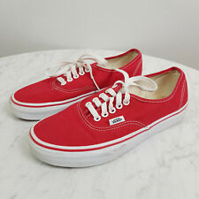 VANS | Womens Authentic Red Sneakers Shoes [ Size US 8 / Mens US 6.5 ]