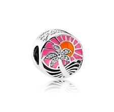 Authentic Pandora 792116ENMX Tropical Sunset Charm Clear CZ Bead