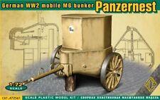 ACE 72561 - 1:72 WWII German mobile MG bunker Panzernest - Neu