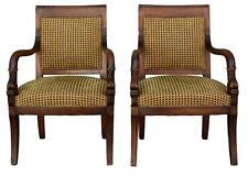 Paire de fauteuil en noyer de style restauration