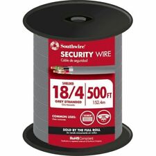 NEW! Southwire 57573044 500-Ft 18/4 Stranded Shielded Grey Security Cable