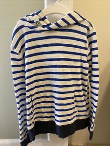 Crewcuts Explore Without Limits Size 8 Striped Pullover Hoodie Boys/ Girls ❤️