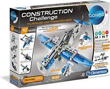 Clementoni Construction Challenge Flugzeuge Hubschrauber Baukasten Physik 59009