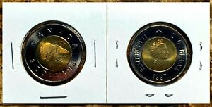 Canada 1997 Toonie Brilliant UNC BU From Mint Roll!!