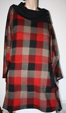 ModCloth Plaid Pullover Poncho Style Sweater S/M MINT