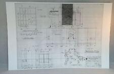"Dark Shadows Blueprint 11""X17"" GLOSSY PRINT-QUENTIN'S ROOM-TOMASHOFF -BONUS GIFT"