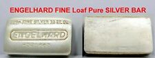 RARE PERFECT Engelhard Vintage 10 OZ TROY Ounce FINE Loaf Pure .999 Silver Bar