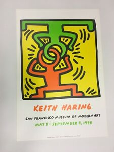 Keith Haring - Drawing for Headstand - 1988 - Exhibition Offset Poster