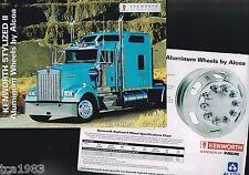 KENWORTH Truck OPTIONS / ACCESSORIES Brochure's:Stylized WHEELS,DANA SPICER Axle