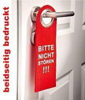GKA Dekoschild Türschild Filz Türhänger Bitte nicht stören beidseitig bedruckt