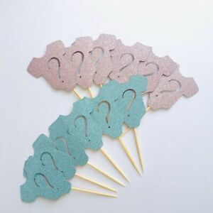 Gender Reveal Toppers Baby Shower Cupcake Toppers Boy Or Girl Romper