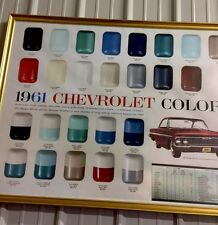 1961 Chevrolet Color Chart impala bubble top convertible 30x40 Man Cave poster