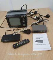 Rare Collectable Vintage Retro VEGA 402D Portable TV +Adapter & Goodman Freeview