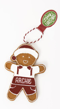 Gingerbread Christmas Tree Hanging Decorations Archie