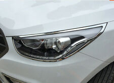 10-14 Fit For Hyundai Tucson IX35 Front Head Lights Lamp Trim Covers Accessories