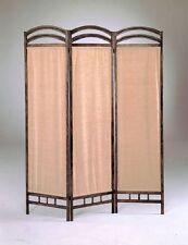 3 Panel Fabric Metal Frame Room Screen Divider