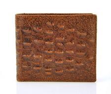 Men Genuine Leather Bifold Wallet Crocodile Purse Classic Credit Card Holder Bro
