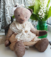 Collectible Artist teddy bear Polina. Handmade teddy bear. OOAK art doll