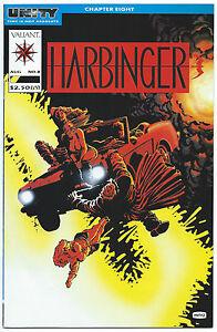HARBINGER #8 Aug 1992 VALIANT NM 9.4 W Frank MILLER Cover David LAPHAM Art B/O
