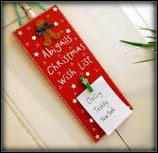 Cute Wooden Childrens Christmas Wish List Sign Gift PERSONALISED Any Name
