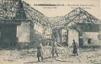 POSTCARD  MILITARY WWI NEUVILLE  ST  VAAST   After the Bombardment
