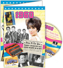 24030 1960 DVD CARD DVDCARD BIRTHDAY GREETING VISUAL HISTORY OF A SPECIAL YEAR