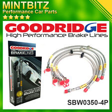 Jaguar X-Type Performance flexi brake 4 hoses set Goodridge 2001-2009 Clear