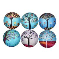 5 Pcs Rainbow Tree of Life Glass Gemstone Sticker Cute Fridge Magic Magnet