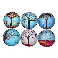 5 Pcs Rainbow Tree of Life Glass Gemstone Sticker Cute Fridge Magic Magnet