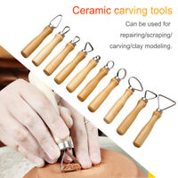 10PCS Pottery Tools Carving Ceramics Clay Sculpture Tool Set DIY Craft Handmade