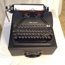 Vintage 1947 Smith Corona Portable 4 Bank Typewriter- Case- Black Keys-Very Nice
