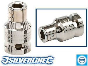 "Silverline Screwdriver Bit Holder 3/8"" 25mm Hex Hardened Chrome Vanadium Steel"