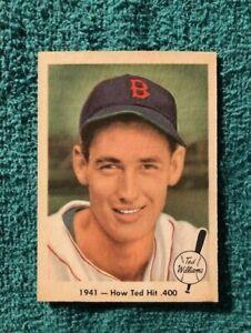 1959 FLEER TED WILLIAMS CARD #17 1941 - HOW TED HIT .400  EX. VERY NICE CARD!!!!