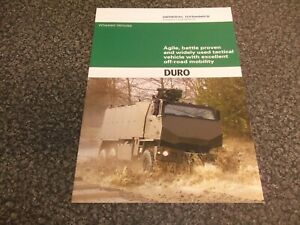 Armored Wheeled Vehicle Brochure DURO General Dynamics 2010 Military Defense