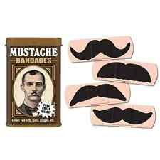 Mustache Bandages Band-Aids Funny Gift Gag Humor Safety