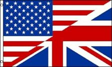 USA UK United Kingdom British American Friendship Flag Banner Pennant 3x5