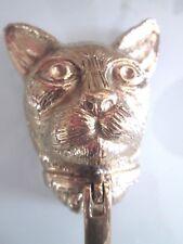 Solid Brass Cat door knocker
