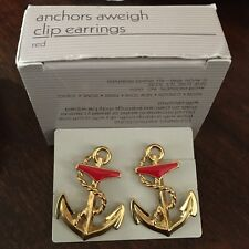 Vintage Avon jewelry ANCHORS AWEIGH CLIP-ON EARRINGS