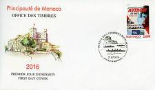 Monaco 2016 FDC World Rowing Coastal Championships 1v Set Cover Sports Stamps