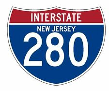 Interstate 280 Sticker R2094 New Jersey Highway Sign Road Sign